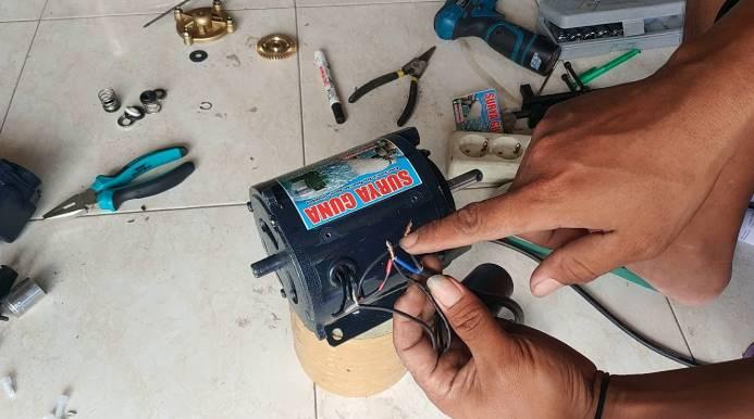 Cara Menyambung Kabel Kapasitor Pompa Air Untuk Pemula